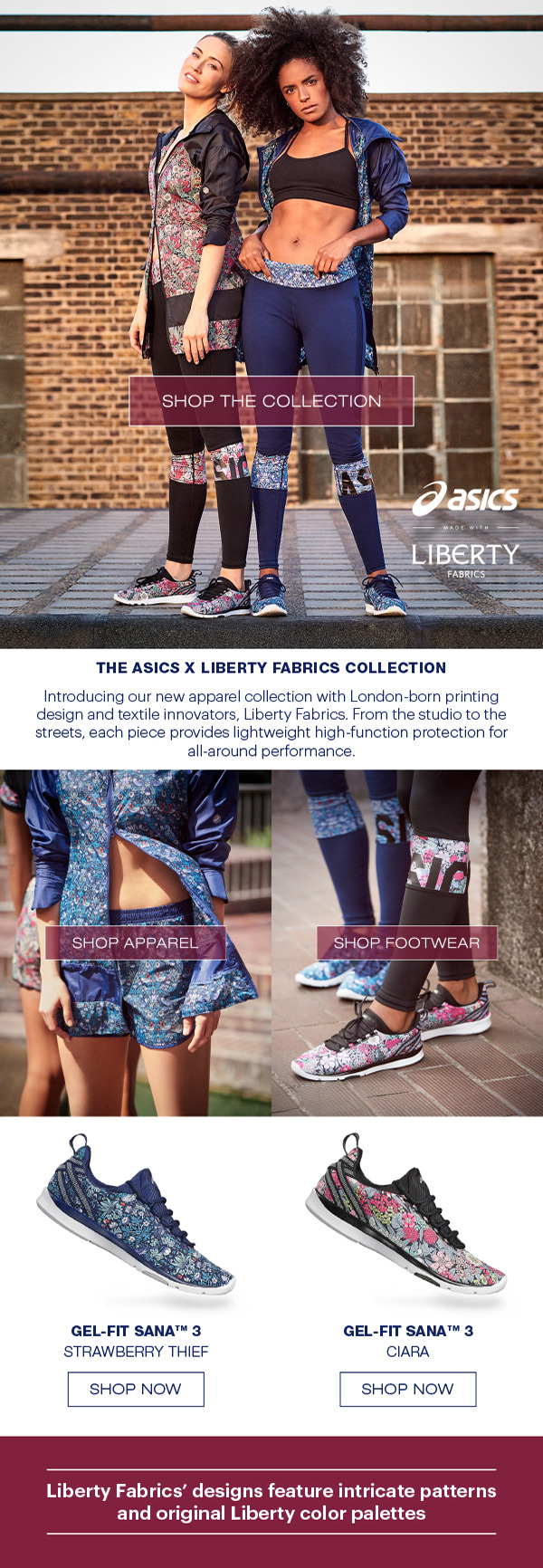 Asics with Liberty Fabrics workout pants - on Superbase Creative
