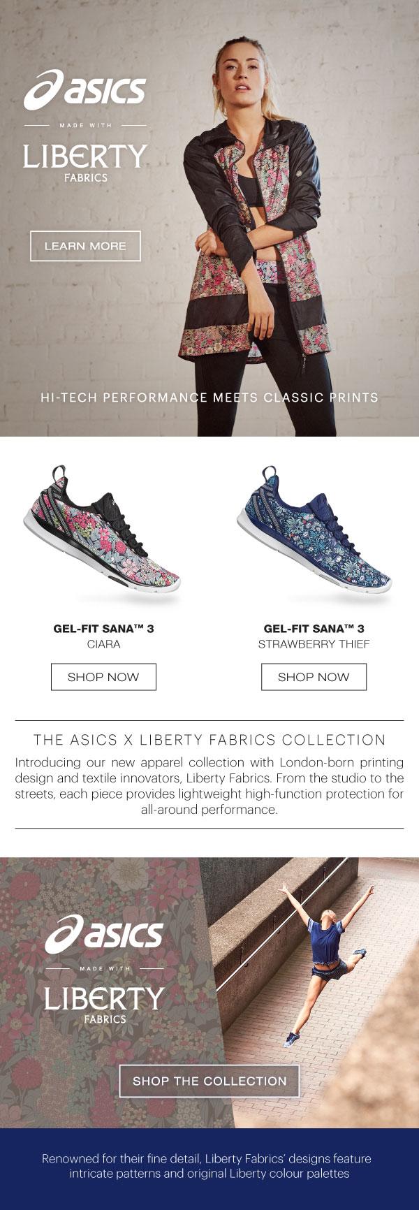 Asics with Liberty Fabrics workout pants - on Superbase Creative